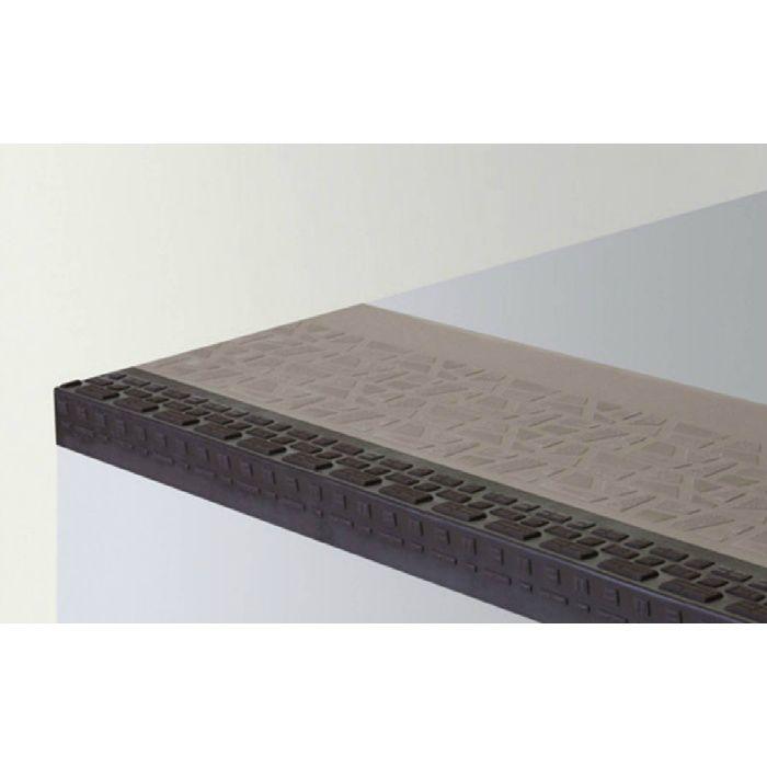 【5%OFF】NPS34101 ポンリューム NPステップ 防滑性階段用床シート 踏み面型 ブラウン 10枚/ケース