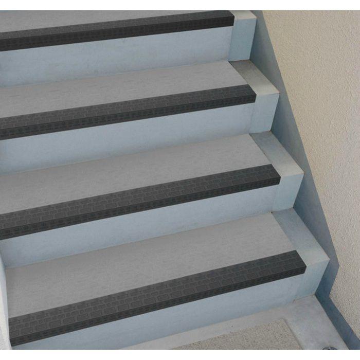 NPS34212L ポンリューム NPステップ 防滑性階段用床シート 蹴込み・踏み面一体型 グレー 7枚/ケース