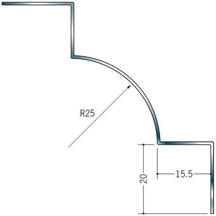 入隅ジョイナー ステンレス IR-1525 H.L 2.73m  64104-1