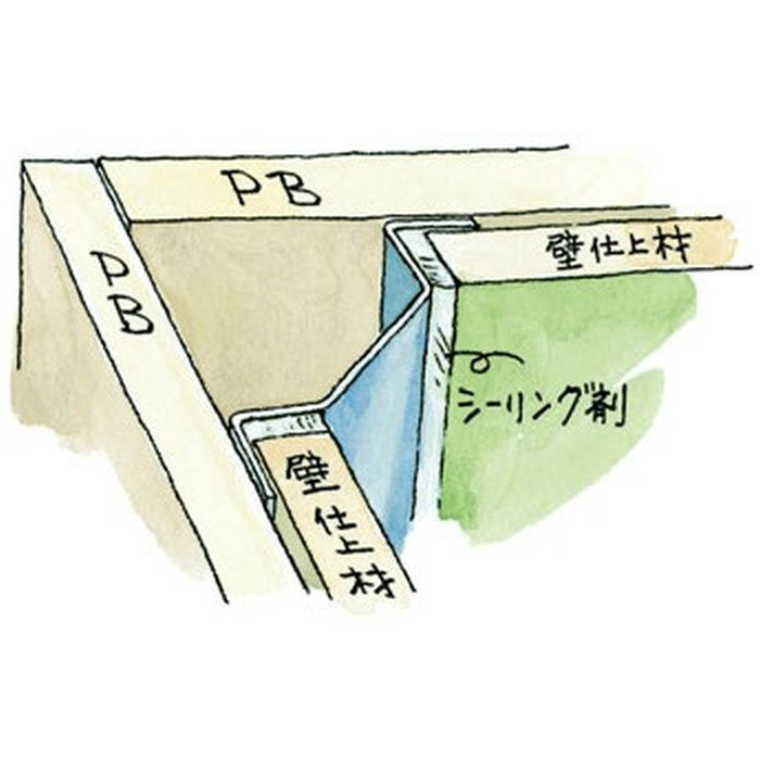 入隅ジョイナー ステンレス IM-1520 H.L 2.73m  64094-1