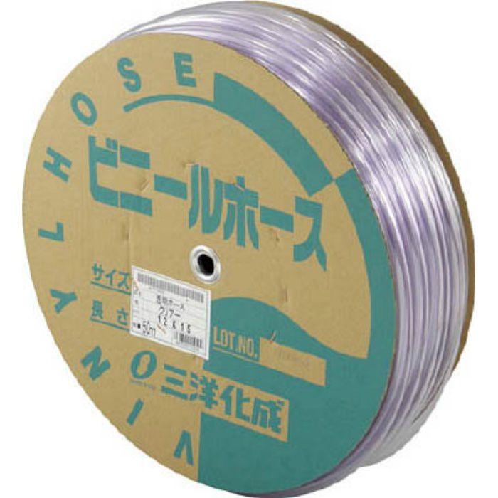 透明ホース12×15 50mドラム巻 TM1215D50T