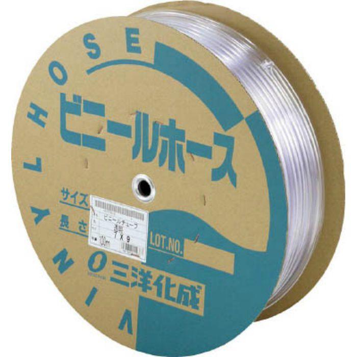TM912D100T 透明ホース9×12 100mドラム巻