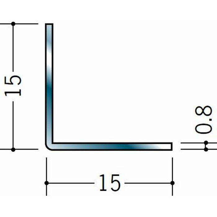 アングル ステンレス アングル0.8x15x15 H.L 3m  20030