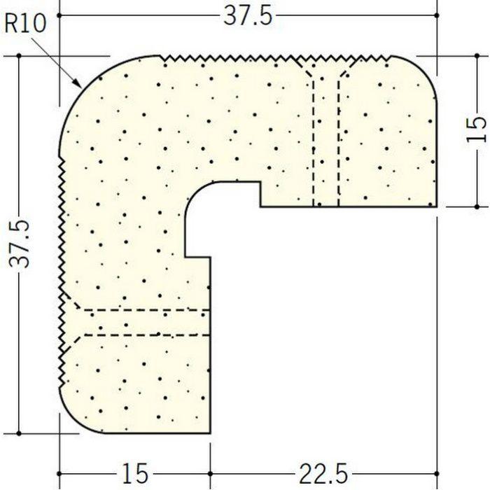 ペンキ・クロス下地材 出隅 ビニール PSコーナーWR15mm ミルキー 2.6m  01286