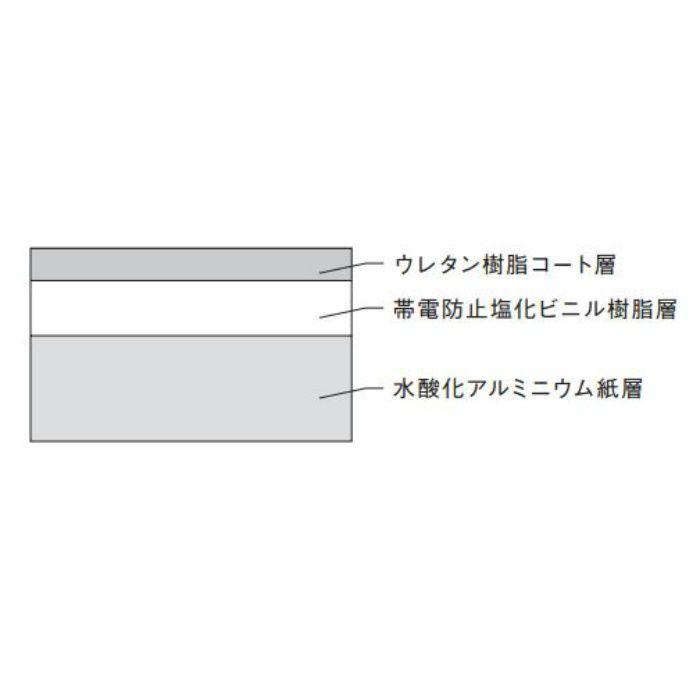 防塵クロス BJ-46106 帯電防止 108Ω ライトグレー