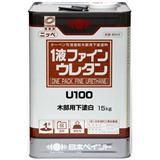 1液ファインウレタンU100 木部用下塗り白 白 15kg 石油缶入り