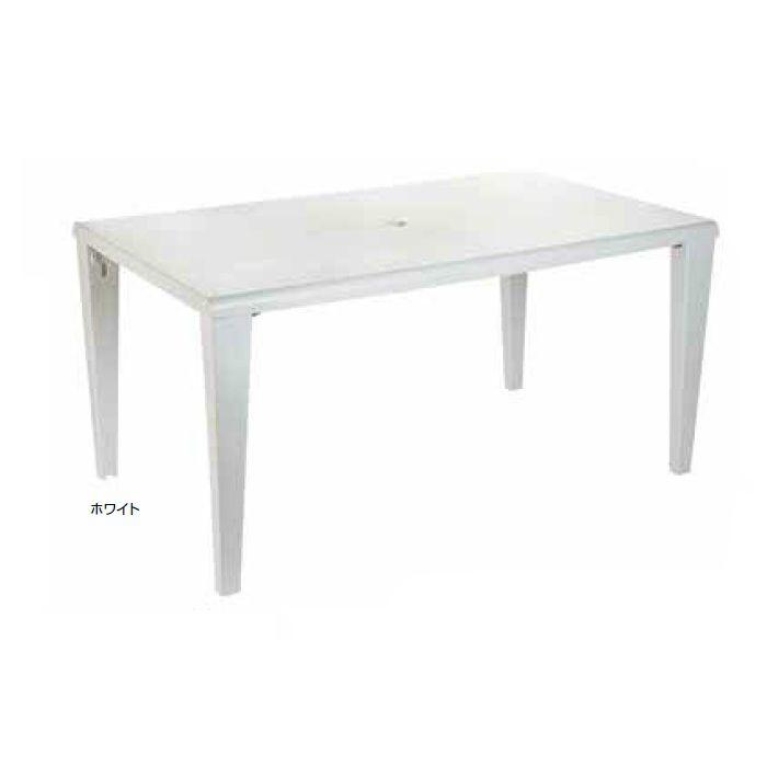 ガーデンファニチャー プラスチック アルファテーブル グロスフィレックス GRS-T10W 32863500 ホワイト
