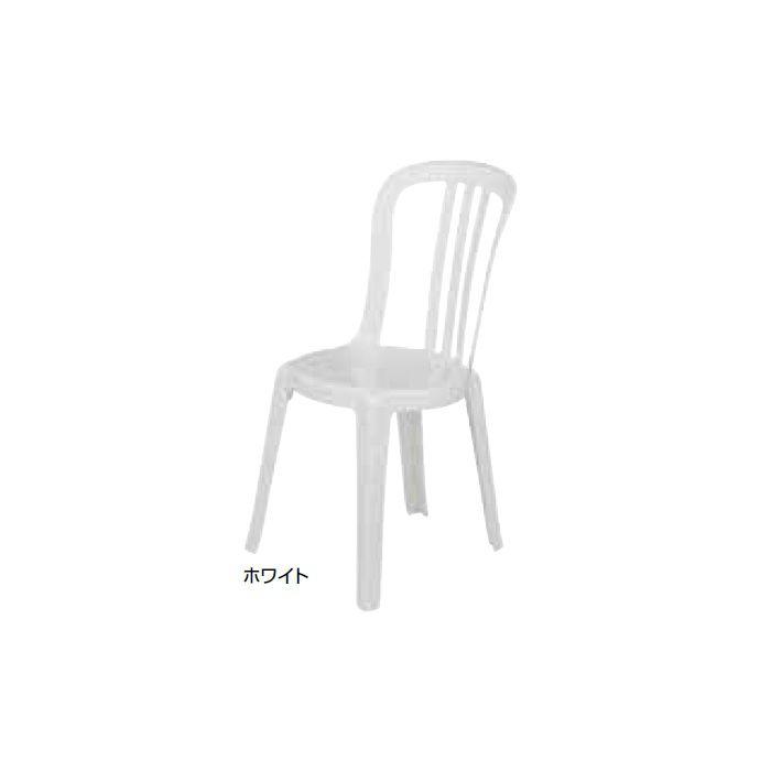 ガーデンファニチャー プラスチック ビストロチェアー グロスフィレックス GRS-C06W 31522200 ホワイト