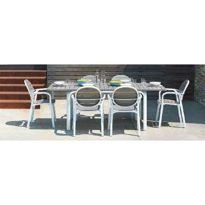 ガーデンファニチャー プラスチック パルマアームチェアー ナルディ NAR-AC05M 32870300 モカ