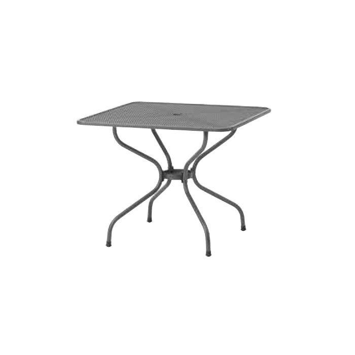 ガーデンファニチャー スチール メタル スクエアテーブル 900 メタルワークフォーガーデン SSN-T01 32760700