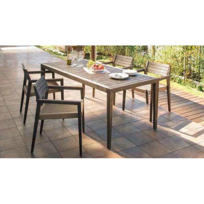 ガーデンファニチャー 天然木 ミカド ダイニングテーブル アンティークトーン TRD-T05 32878900