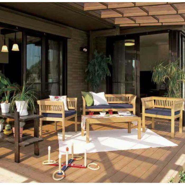 ガーデンファニチャー 天然木 フウガ ベンチ チークスタイル TRD-042C 33885600