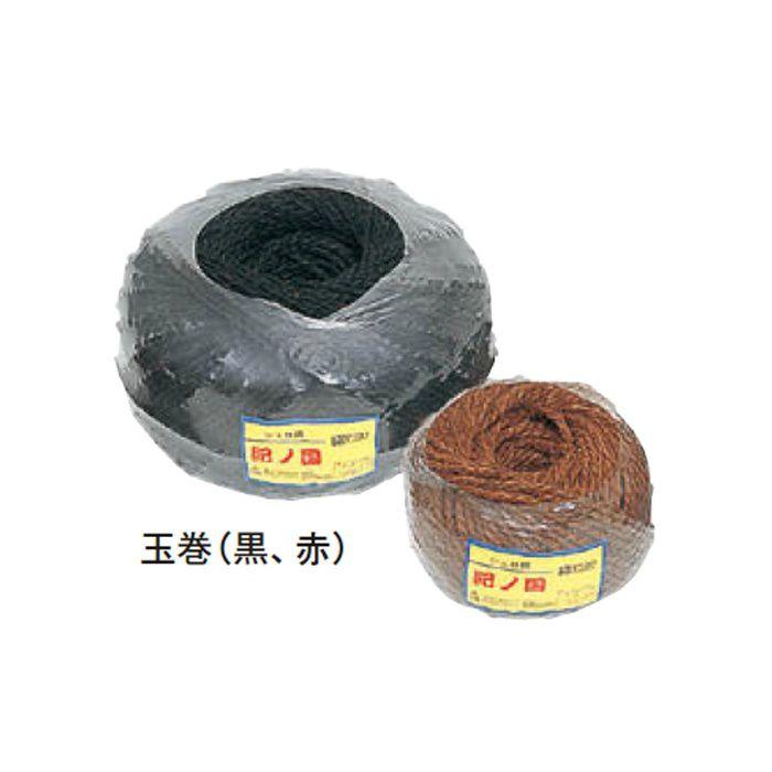 緑化資材 棕梠縄 紀ノ国 玉巻 1本出コード 30957300 赤