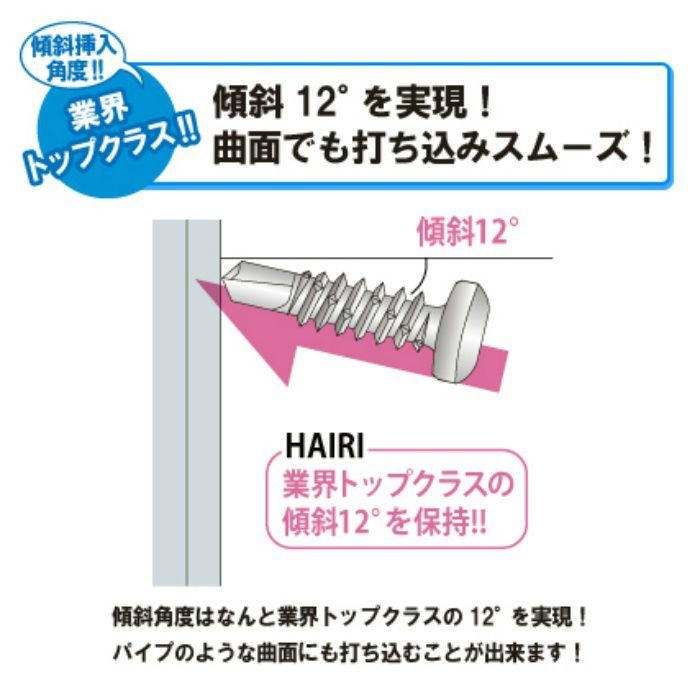 匠力 ドリルビス HAIRI 三価ユニクロ/サラ 4X60mm 50本X3袋/小箱