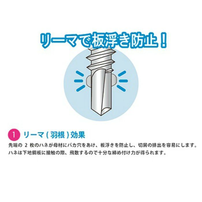 匠力 ドリルビス HAIRI 三価ユニクロ/リーマフレキ 5X45mm 50本X5袋/小箱