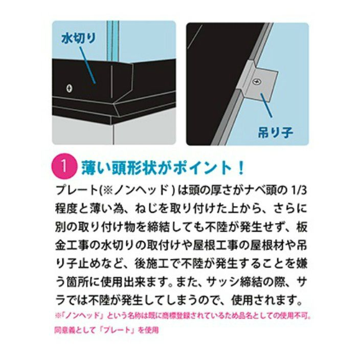 匠力 ドリルビス HAIRI 三価ユニクロ/プレート 5X19mm 100本X5袋/小箱