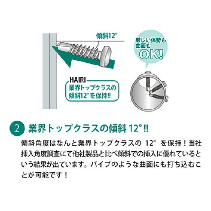 匠力 ドリルビス HAIRI SUS410/リーマフレキ 5X60mm 50本X2袋/小箱