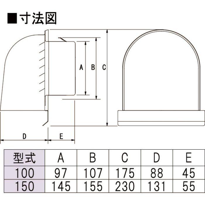 力王 換気材 ステンU型フードガラリ UGF150