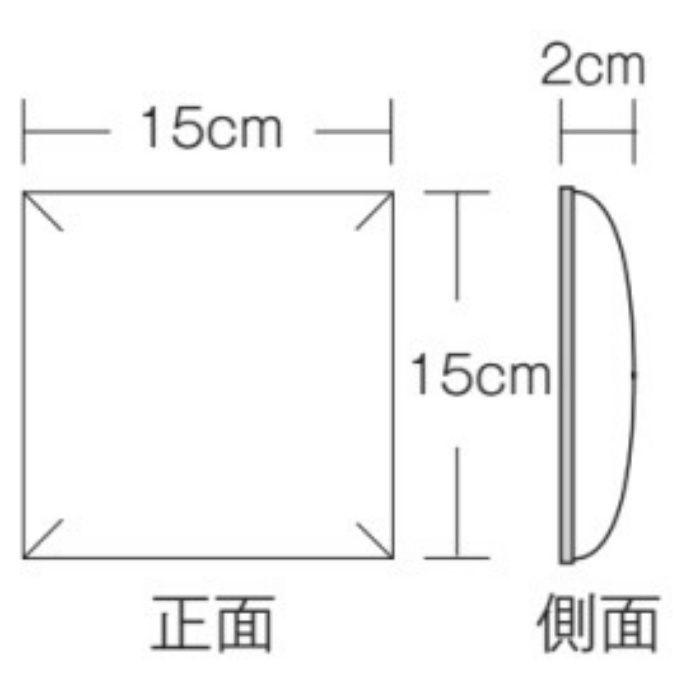 AX-104-1 ウォールアート カラー(ヘアライン調) パープル 15cm角 2cm厚