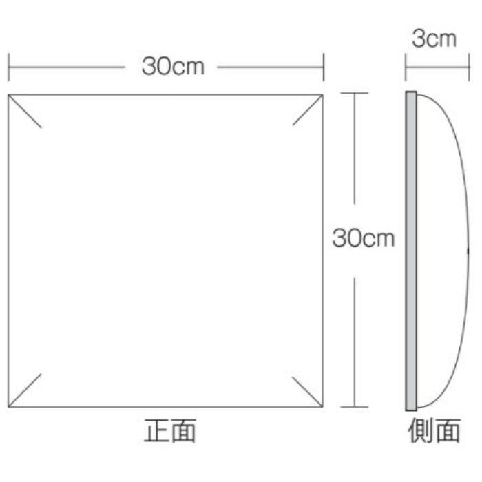 AX-106-2 ウォールアート レザー アイボリー 30cm角 3cm厚