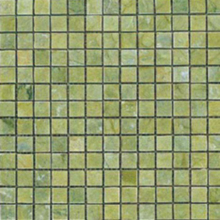 ZK7715 キエーザ 天然大理石モザイク 幾何学 / オリーブ グリーン