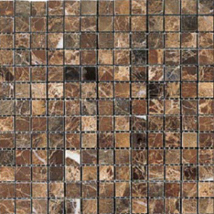 ZK8615 キエーザ 天然大理石モザイク 幾何学 / マロン エンペラドール
