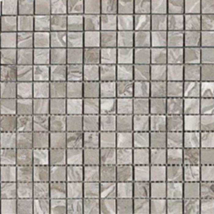 ZK8715 キエーザ 天然大理石モザイク 幾何学 / フェザー グレー