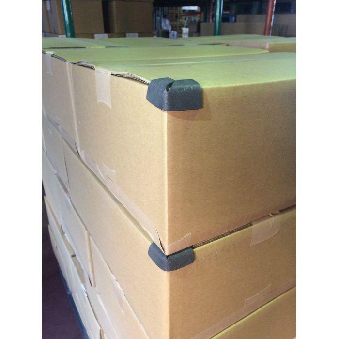 カド番シールL ブラック 5mm厚×縦90mm×横140mm 25袋(4個/袋)/ケース