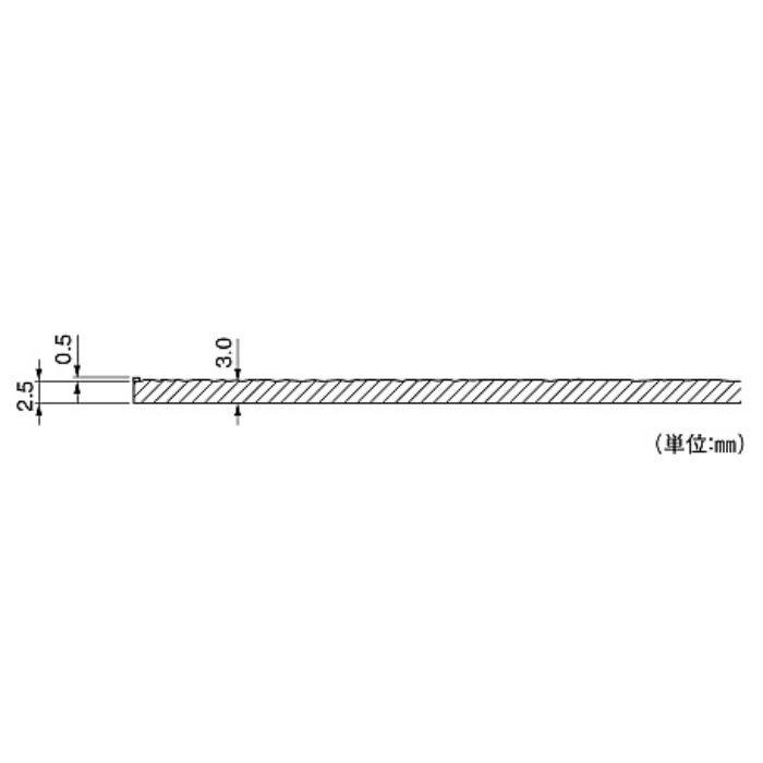 PL2553 ラバータイル プラートF 岩盤柄 3.0mm厚