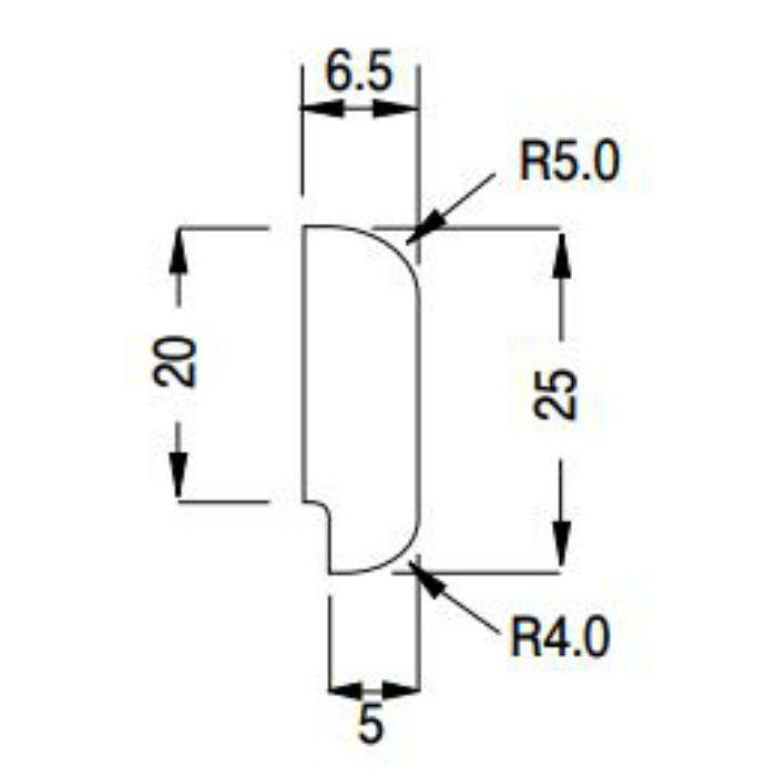 KKM3032 防汚消臭腰壁シート部材 腰壁用ニューモール材 10本/ケース