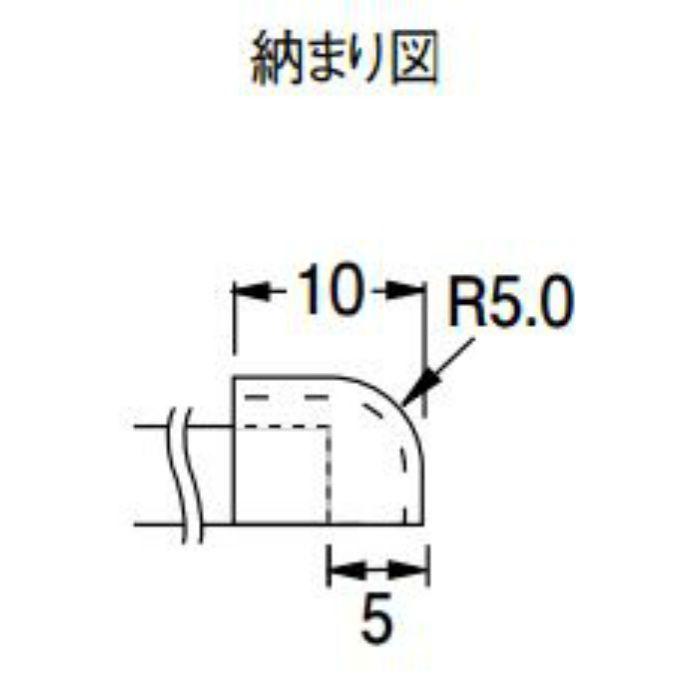 KCP4 防汚消臭腰壁シート部材 腰壁用エンドキャップ 20個/ケース