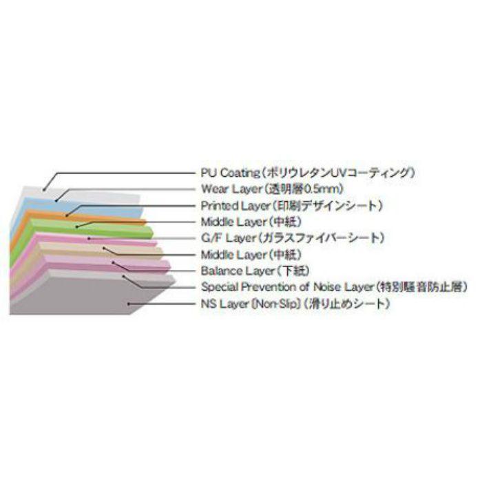 ADW1105 置敷きタイル かんたんデコセルフ 古木調アンティーク 5mm厚【フロアタイル特集】