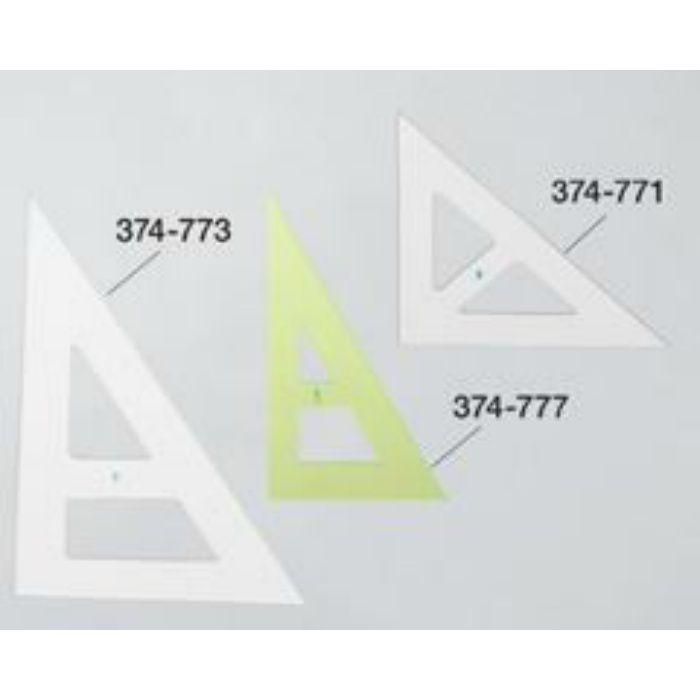 二等辺三角定規クリア 厚5×425×425×600mm 374771