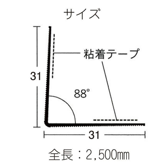 塩ビコーナー下地補強材 NKV コーナー 31PT 100本入 12-7326