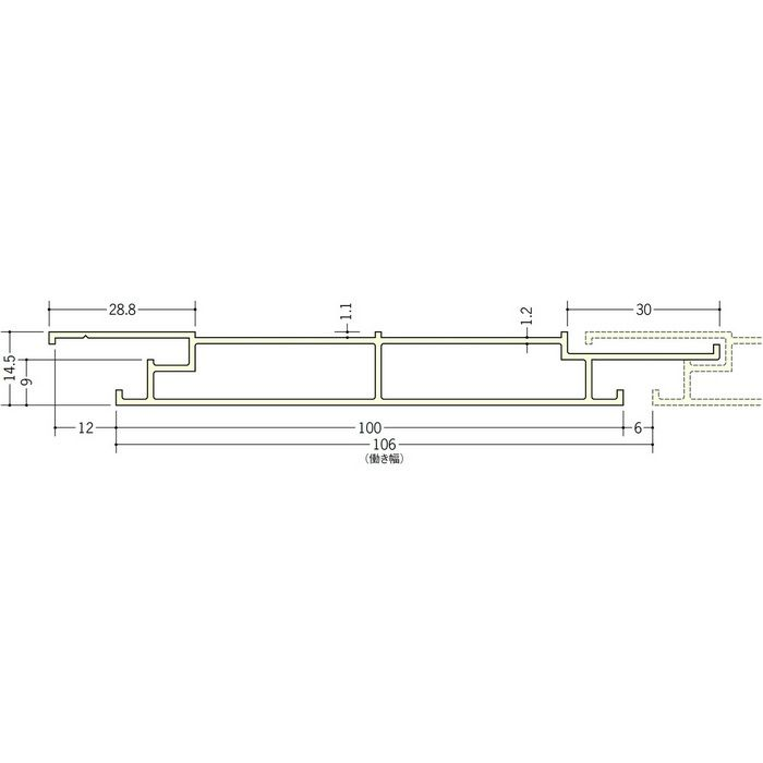 湯らっくす 不燃BRF-100 アルミ製/焼付塗装 マロンアイボリー 2m 40001-2