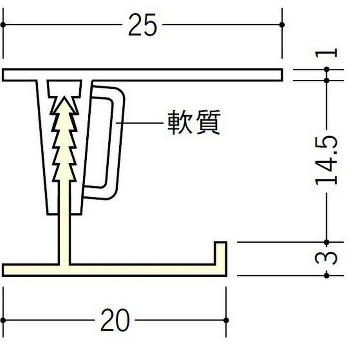 湯らっくす 不燃廻り縁 アルミ製/焼付塗装 バニラホワイト 3m 40020-1