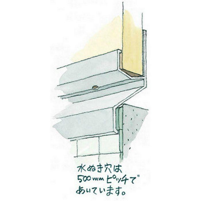 湯らっくす 不燃用入隅 アルミ製/焼付塗装 ハニーレッド 3m 40024-18