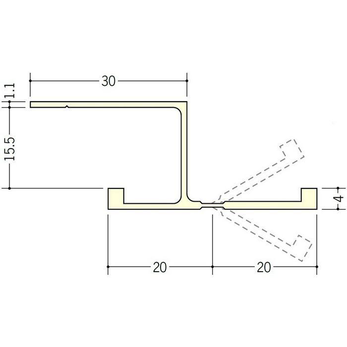 湯らっくす 不燃用フリーボーダー15 アルミ製/焼付塗装 ライトブロンズ 2m 59049-22