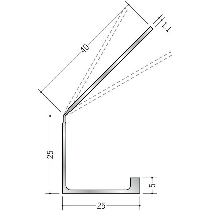 湯らっくす 共通部材 アルミ結露受け穴あき(4)/焼付塗装 パウダーブルー 2m 59051-5