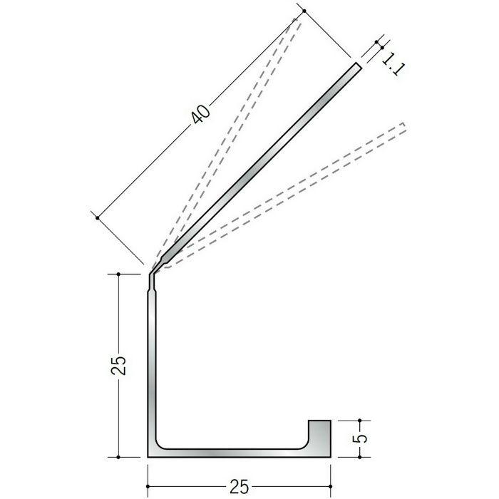 湯らっくす 共通部材 アルミ結露受け穴あき(4)/焼付塗装 マリンラベンダー 2m 59051-15