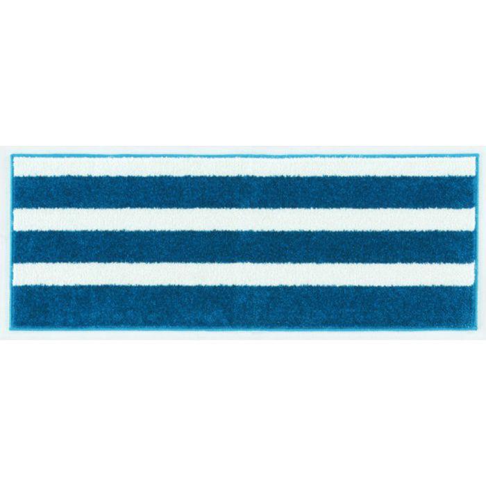 131-35872 バスク RUG MAT #38 Dブルー 45cm×180cm