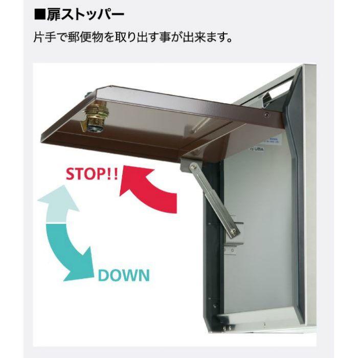 villetta 戸建郵便受箱 ダイヤル錠 ボルドー