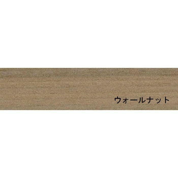 天然木木口化粧材 タイトウッド厚物テープ ウォールナット 1.0mm×22mm×100m 無塗装 のり無し