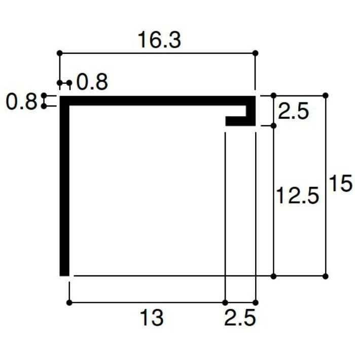 【ロット品】 スッキリ見切13 SKM13 2.5m アイボリー 50本/ケース