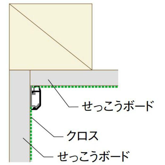 【ロット品】 クロス押さえ見切14 CM14 1.82m ホワイト 100本(付属部材有り)/ケース