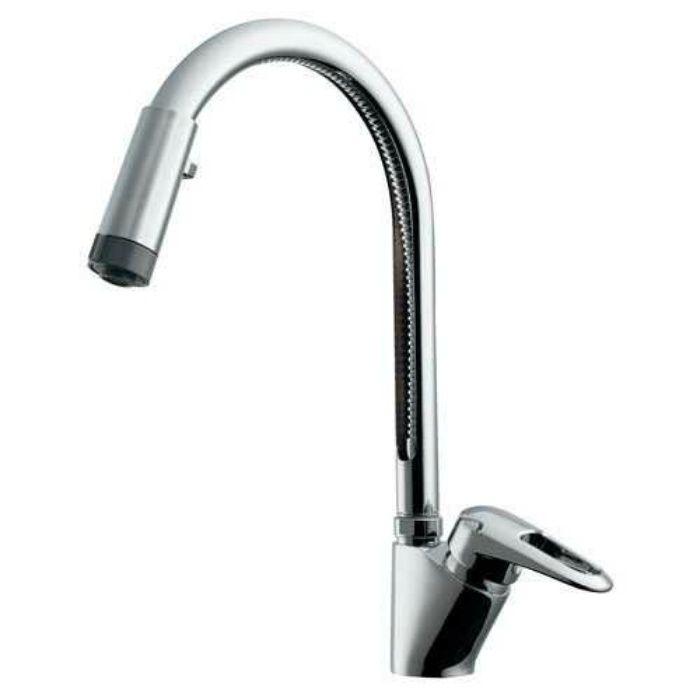 117-120 キッチン水栓 シングルレバー混合栓(シャワーつき)