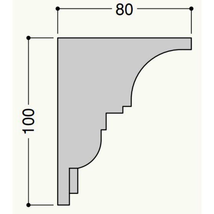 【ロット品】 クラシカル CM-01 CM01W 80mm×100mm×2m アーバンホワイト 4本/ケース