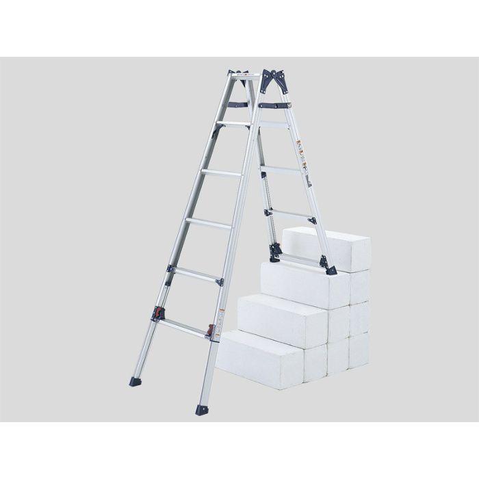 脚伸縮兼用段違い脚立 かるノビSCL(ピカコーポレイション) SCL-45A 64-5159