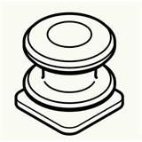 【ロット品】 クールハンガー用部品 スライドフック CLHFW ホワイト 20個(4個小箱×5)/ケース