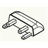 【ロット品】 クールハンガー用部品 サイドキャップ CLHCW ホワイト 20個(4個小箱×5)/ケース